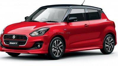 2020 Maruti Swift Facelift Red Japan