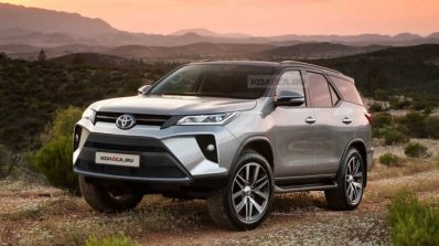 New Toyota Fortuner Facelift 2021 Front Rendering