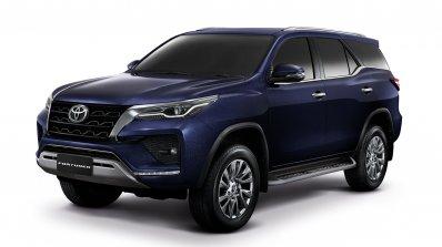 2021 Toyota Fortuner Facelift Blue