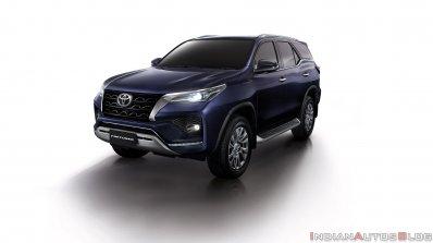 2021 Toyota Fortuner Facelift Blue Front Quarters