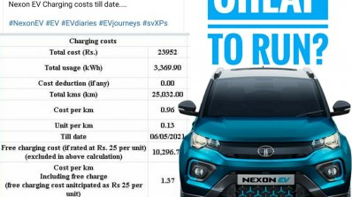 Tata Nexon Ev Running Cost Front View