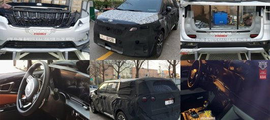 Next-gen 2021 Kia Carnival grille, bumpers and interior leaked