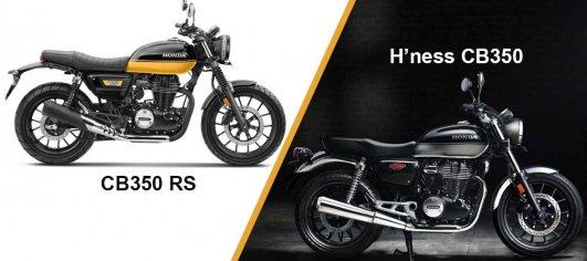 Honda CB350RS vs H'ness CB350 - Differences Explained [Video]