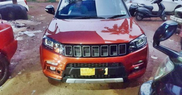 Custom Jeep Grand Cherokee >> Maruti Vitara Brezza with custom Jeep Compass inspired grille