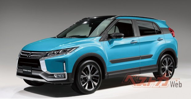Next-gen Mitsubishi RVR B-segment SUV Rendered