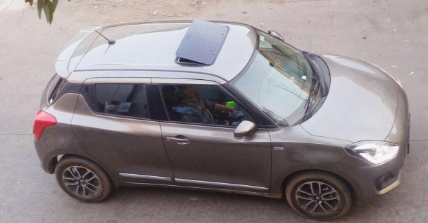 Check Out This 2018 Maruti Swift With Aftermarket Sunroof