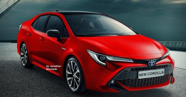 Next-gen 2019 Toyota Corolla Altis (2019 Toyota Corolla Sedan) imagined