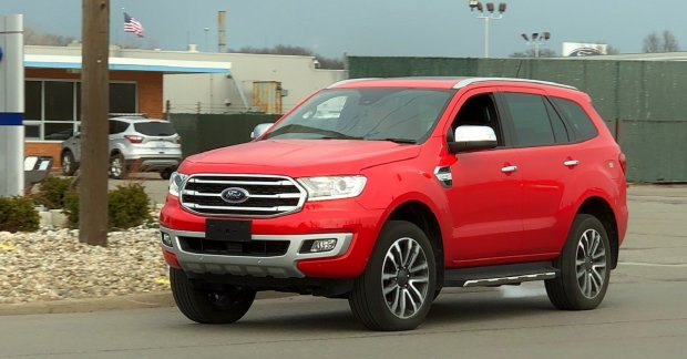 2018 Ford Everest (2018 Ford Endeavour) spied undisguised ...
