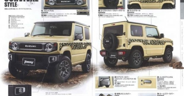 suzuki jimny jimny sierra accessories brochures reveal customisation options