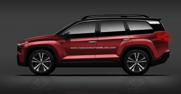 Tata H7x Suv Harrier 7 Seater Iab Rendering