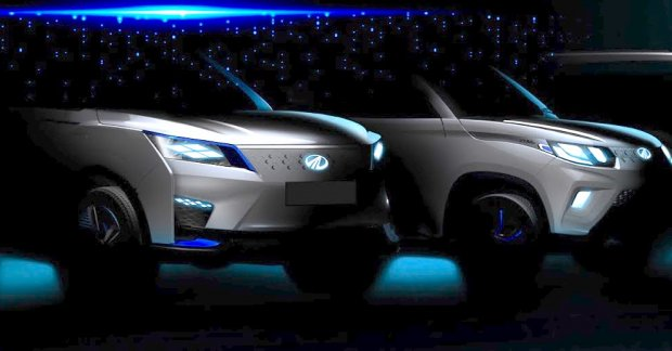 auto expo 2020  mahindra exuv300 concept and production mahindra ekuv100 teased