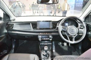 Kia Rio dashboard at Auto Expo 2018