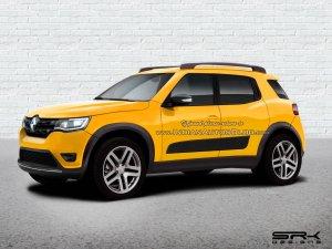 Renault Hbc Renault Kwid Based Compact Suv Renderi