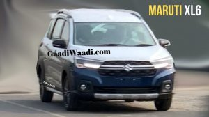 Maruti Xl6 Front Thrree Quarters Spy Shot