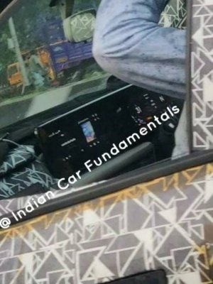 New Spy Images reveal the Mercedes-like screens in use on the next-gen Mahindra XUV500