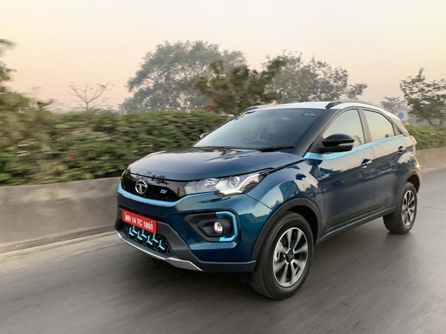 Tata Nexon Ev Image Front Three Quarters Action 5