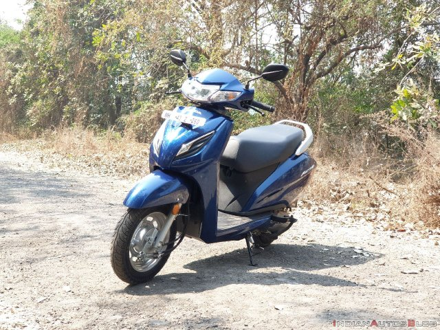 Honda Activa 6g Review Images Front Three Quarters