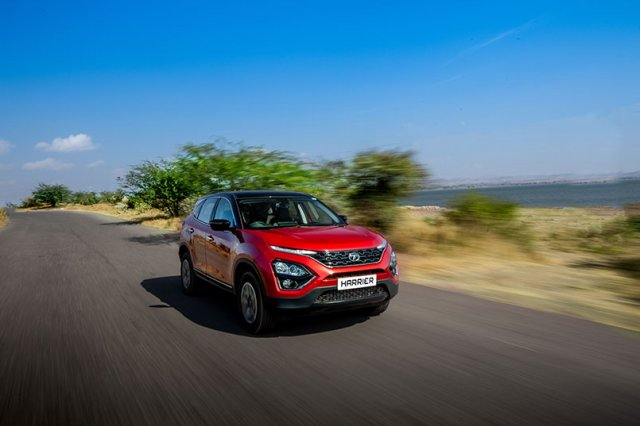 2020 Tata Harrier Review Images Front Three Quarte