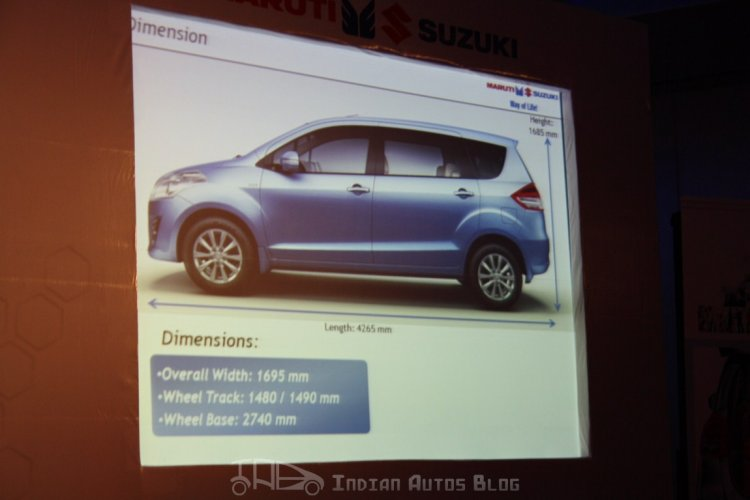 Maruti Suzuki Ertiga dimensions