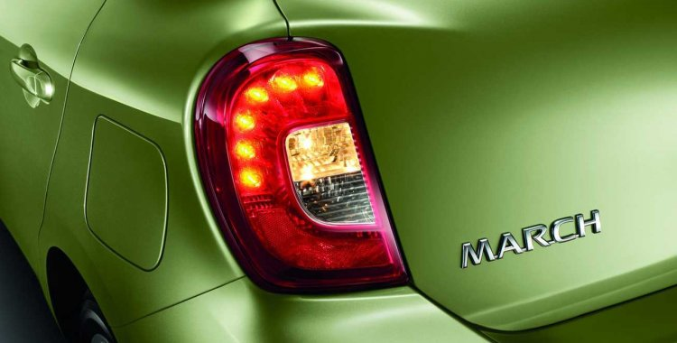 2014 Nissan Micra facelift Thailand tail light