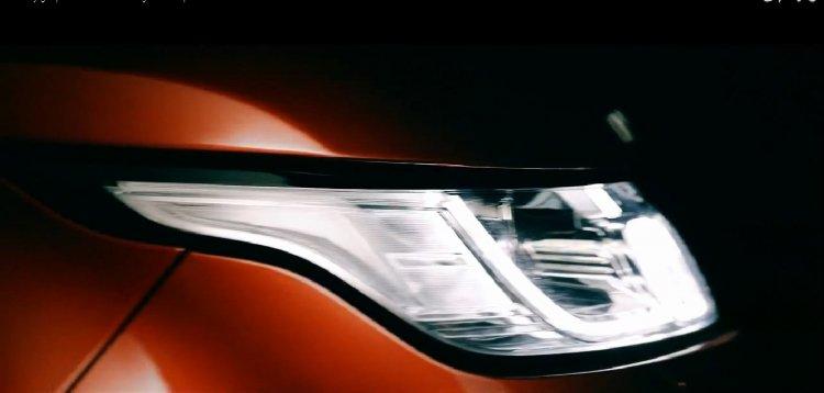 2014 Range Rover Sport headlight teaser