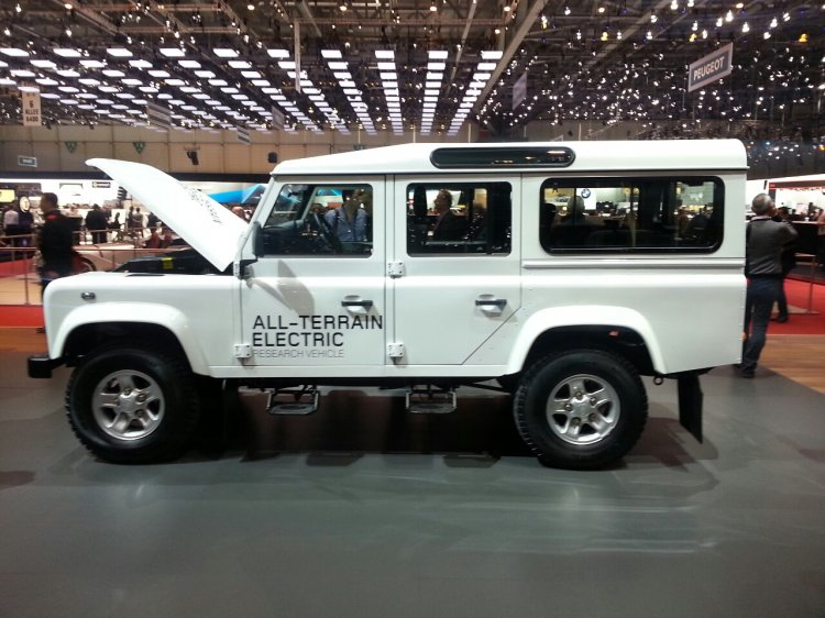 Electric Land Rover Defender Research Vehicle