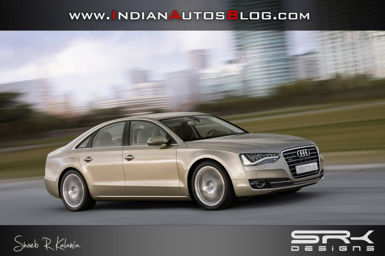 audi a8 facelift rendering front