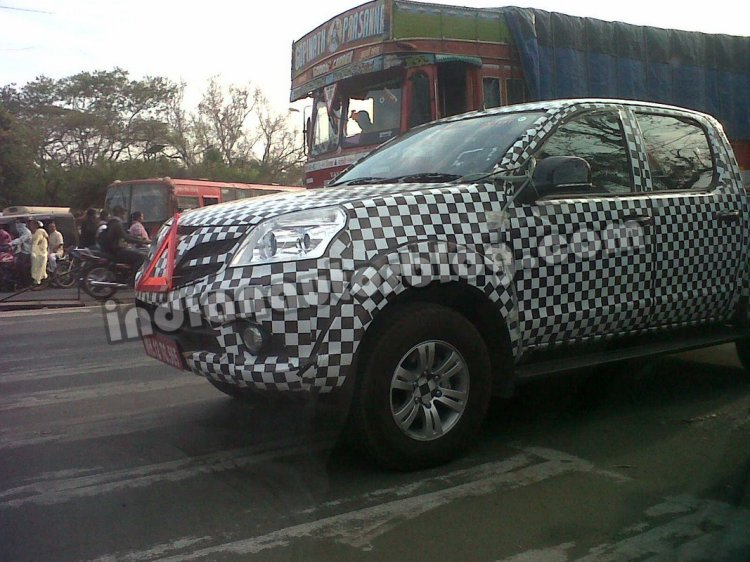 Foton Tunland spied in Pune front