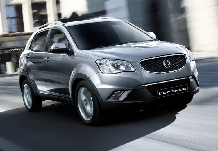 Ssangyong Korando front three quarters