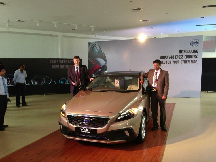 Front of the Volvo V40 Cross Country launched in India