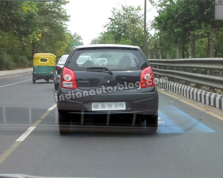 Nissan Pixo spied in India rear