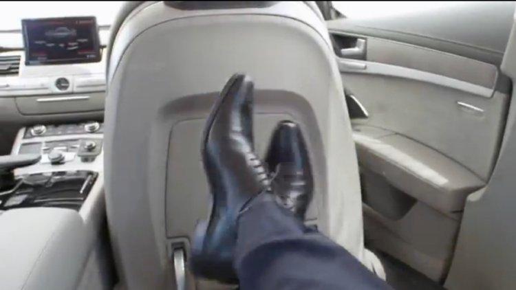 2014 Audi A8 facelift rear seats