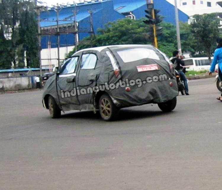 2014 Tata Vista facelift spied rear