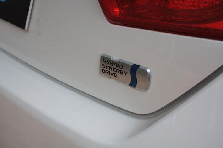 Toyota Camry Hybrid HSD badge