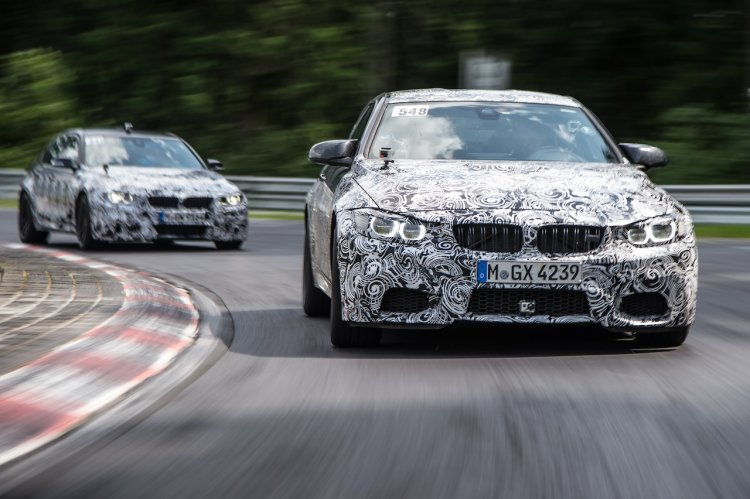 BMW M4 and M3 front