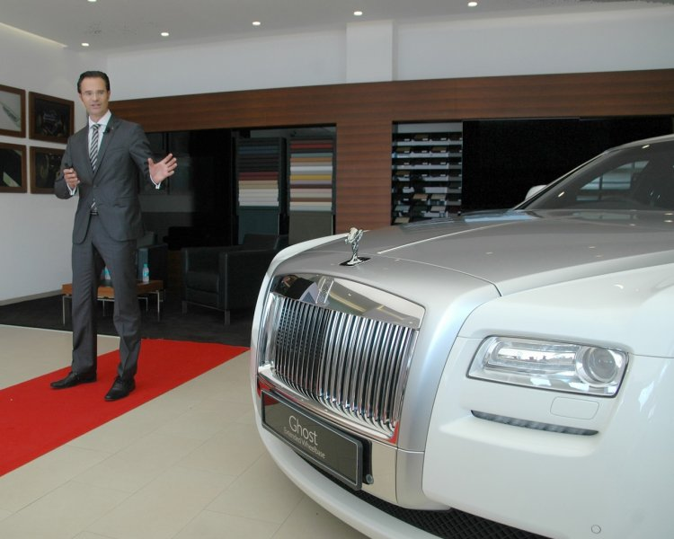 Herfried Hasenoehrl at the newly opened Rolls Royce showroom in Ahmedabad