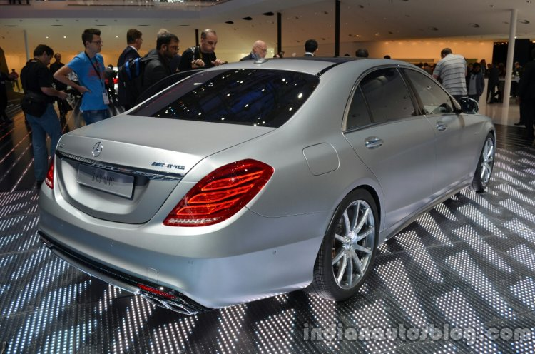 Rear three quarter of the 2014 Mercedes S 63 AMG