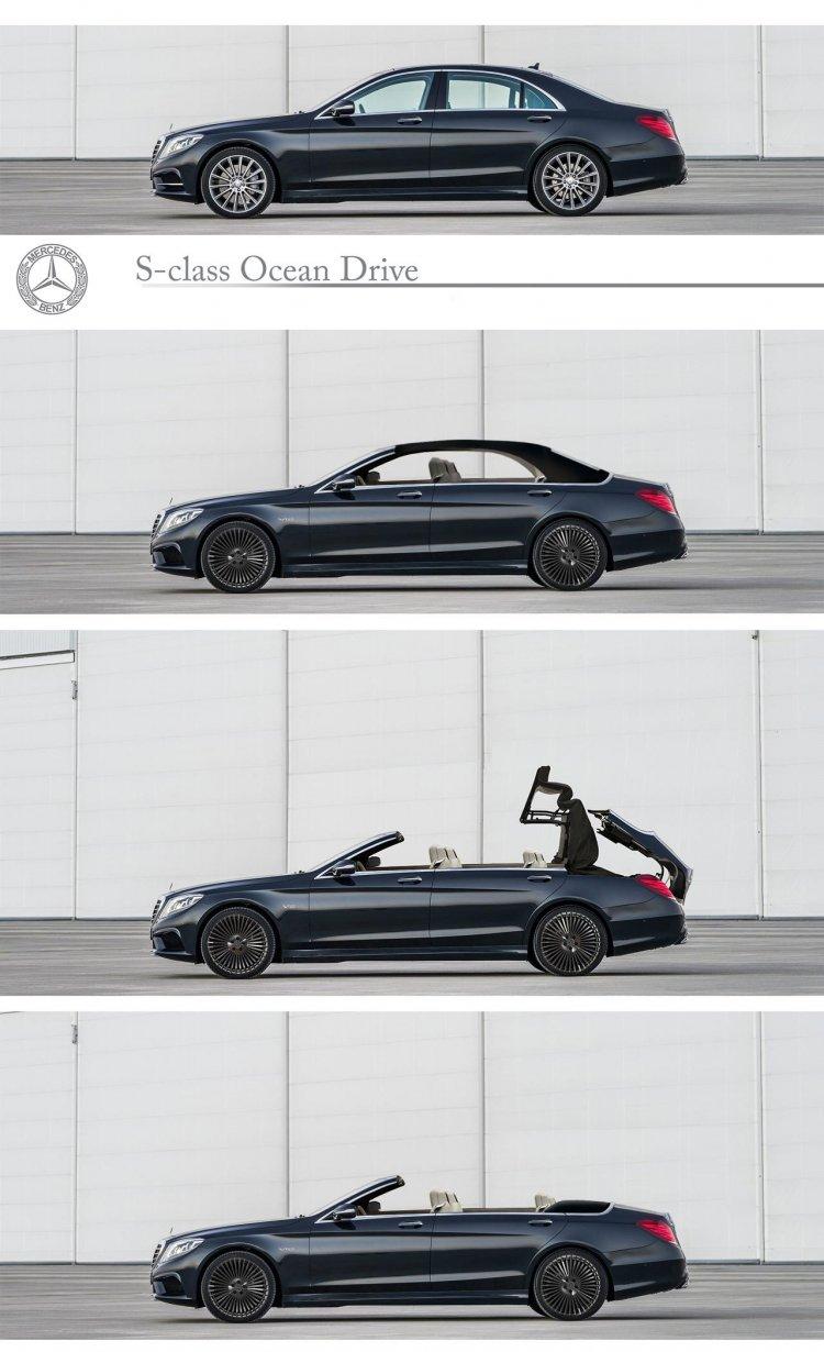 Mercedes S Class Convertible side