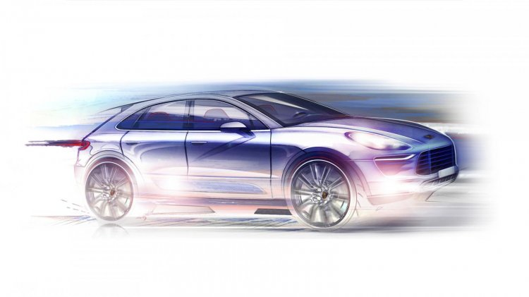 Porsche Macan teased sketch