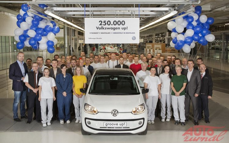 VW Up! 250000 unit produced in Bratislava