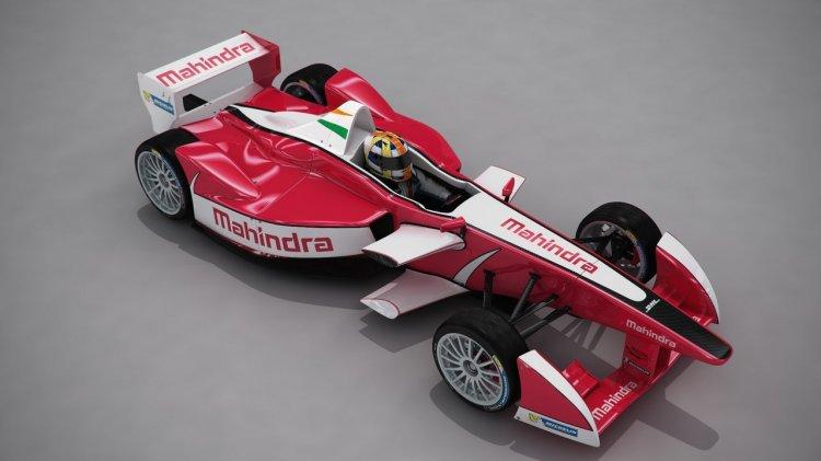 Mahindra Racing Formula E front quarter