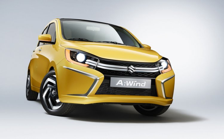 Suzuki A:Wind Concept front three quarters left at Thailand International Motor Show