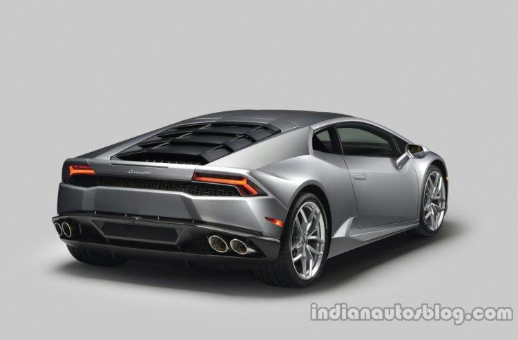 Lamborghini Huracan press shot rear silver