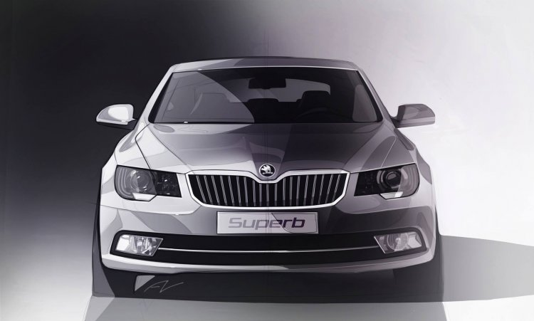 2014 Skoda Superb India teaser