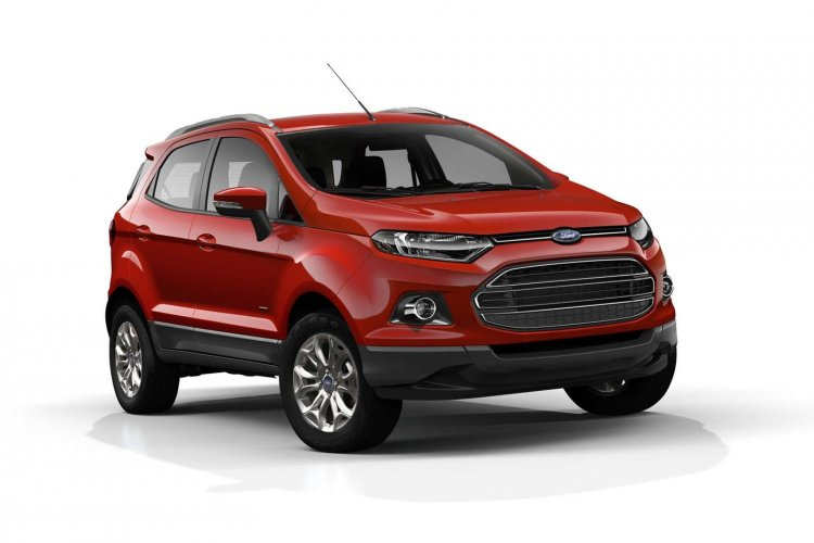 Ford EcoSport press image red front three quarters