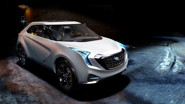 Hyundai Curb Concept front three quarter press shot