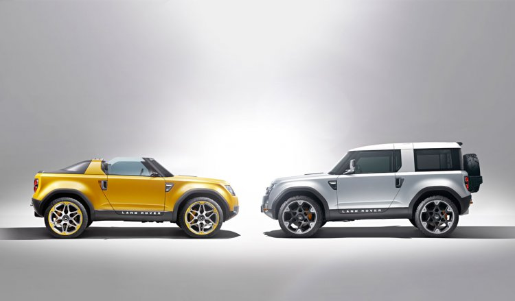 Land Rover DC 100 and DC 100 Sports concepts side press shot