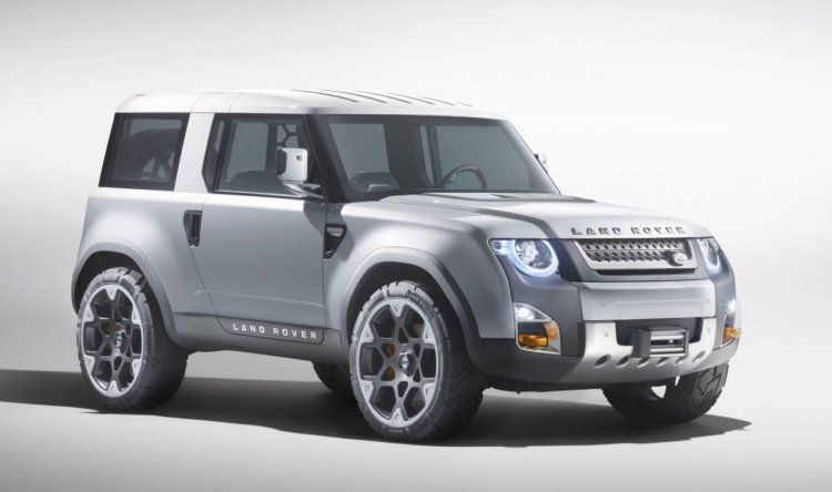 Land Rover DC 100 concept front three quarter press shot