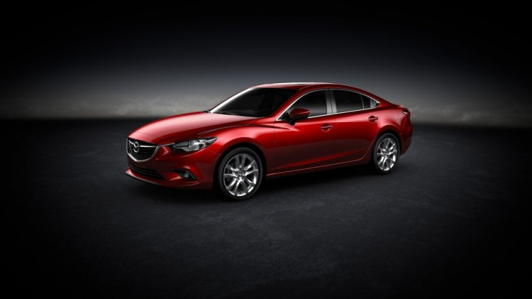 Mazda 6 side press shot