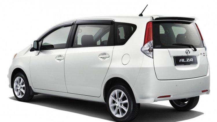 Perodua Alza rear studio image